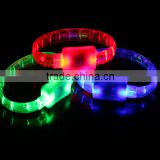 Awesome Party Glowing Bracelet changing card packing LED bracelet Light up Bracelets Armband luminous sexy Wrist Ring christmas