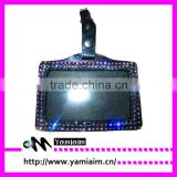 bling horizontal retractable badge holder custom insert