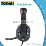 Shinning LED Light Wired 3.5mm Gaming Headset Headphones Earphone with Mirco and Volume Keys