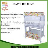 LHX-003A Indoor Application Plastic Folding Baby Changing Table with Comfy Padded Changing Mattress