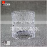 New Products In Market Glass cup/ hot sales design Hand press curtain Pattern Glass tumbler