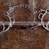 Sweet Snaffle Mouth Cheeks Chain Horse Bit veterinary instruments and equipment best Quality