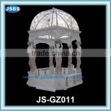 Multi color marble gazebo with human carving