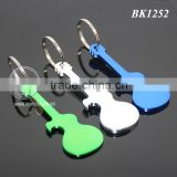 Anodizing Aluminum Guitar Shaped Pocket Creative Gift Metal Guitar Keychain Bottle Opener
