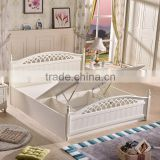 2016 Latest Furniture Wood Double Bed Designs with Box Storage                                                                                         Most Popular