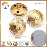 Hot Sale Gold Garment Accessories Sewing Button                                                                         Quality Choice