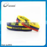 2016 new design cheap silicone custom negative ion sport country bracelet                                                                                                         Supplier's Choice