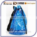 Blue Clear PVC Drawstring Bag PVC Promotional Bag
