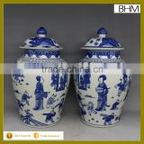 China antique porcelain blue and white ginger jar ceramic for home decor