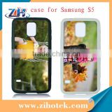 High Quality sublimation cell phone case for Samsung Galaxy S5 with metal insert