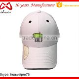 White Sports Cap with Magnet High Quality Breathable Cotton Baseball Cap OEM Design 6 Panel Golf Cap Factory China