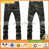Wholesale Camouflage Pockets Skinny Biker Jeans American Apparel Clothing For Men