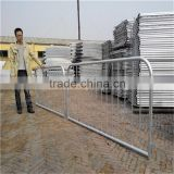 Hot dipped galvanized pedestrian safety metal traffic crowd control temporary mobile barricade