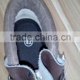 Safety shoe with steel toe and good year welt construction, WT-2015