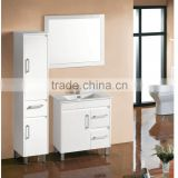 White lacquer modern white 60 inch bathroom vanity
