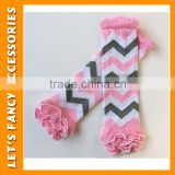 New Arrivals baby boutique wholesale cotton infant toddler Leg Warmers colors ruffle leg warmer in stock PGLW-0024