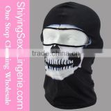 New Stylish Wholesale Halloween Hot White Skeleton Face Black Mask Costume