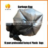 disposable PE flat plastic garbage bag on roll