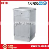 Stainless steel hospital bedside cabinet