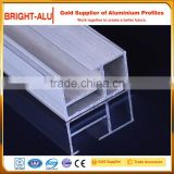 Customized extruded aluminum edge banding profile for kitchen cabinet roller shutter door