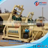 twin-shaft concrete mixer JS1000 for sale with Pneumatic motor