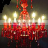 New arrival Baccarat chandelier,crystal chandelier,luxury chandelier ,with 8 head and red color