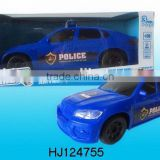2015 New Product BO Police Car Toys With Music and Light, Electronic Bump&go Car Toys