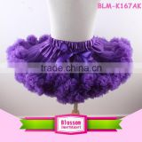 Purple ribbon pettiskirt tutu,Children Petticoat flower baby girl tutus ruffles kids skirts                                                                         Quality Choice