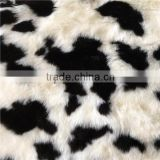 new arrival white and black high quality faux fur fabric