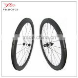 Competitive tubeless road bike wheels 50mm 23mm/25mm high quality Far Sports wheelset with DT350 hub and Sapim aero spokes