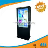 Lcd Ad Player 42 inch Floor Standing waterproof round Outdoor Android ad touch screen kiosk