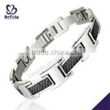 China Manufacturer 2015 latest stainless steel letter bracelet