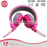 Ultra stylish fashion headphones with padded design, button remote and Microphone children headset