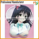 AY Sublimation Printing Sexy Anime Girls Nude Breast Mousepad Wrist Support Mouse Pad, Yui 3D Big Breast Soft Mouse Pad