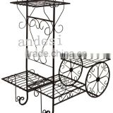 Fashion style bicycle Iron flower pot rack