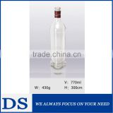 Unique triangular prism alcohol white bottle glass bottle                                                                         Quality Choice