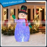 Amazing snowman model with LED /inflatable Christmas snowman ground cartoon with LED for yard decoration