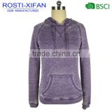 Women Fashion Pullover Hoodies Heavy Enzyme Washing Sweatshirt with one Pocket