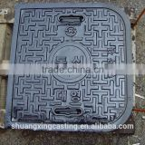 ductile iron manhole covers with different size and type cast iron heavy duty manhole covers sizes for sale