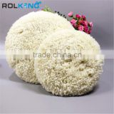 7'' natural 100% wool 1'' pile double sided buffing and polishing pad bonnet