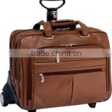 Leather Wheeled Laptop Case