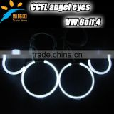 High quality beautiful decoration round angel eyes headlight for VW golf 4