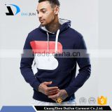 Daijun Factory cheap custom oblate drawstring 100 %fleece navy blue pullover silk-screen logo men unbranded hoodie