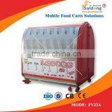 Stainless steel commerical cotton candy food truck / fruit van for sale/fried ice cream machine cart