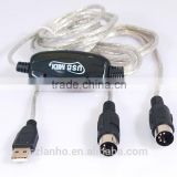 USB MIDI Music Cable Converter PC to Music Keyboard Supports Window