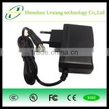 LX120100 12V 1A wall mounted universal switching power adapter supply 12W with UL CE ROHS FCC PSE CB certifications