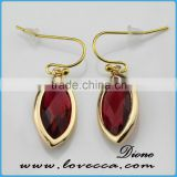 Bulk Wholesale Different Shape Chalcedony Gemstone Brass Dubai Gold Plated Earrings Jewelry