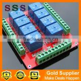 Wholesale standard Low trigger electronic 8 channel relay control module 5V,12V, 24V