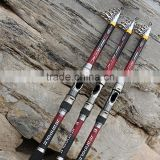 Outdoor sports Telescopic Fishing Rods Hand Pole Carbon Superhard Superlight Fishing Lure Tackle 2.1/2.4/2.7/3.0/3.6m