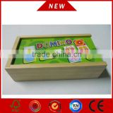 Educational toy Wooden Domino Game Set for kid